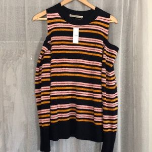 NWT- Open shoulder chenille sweater from Loft